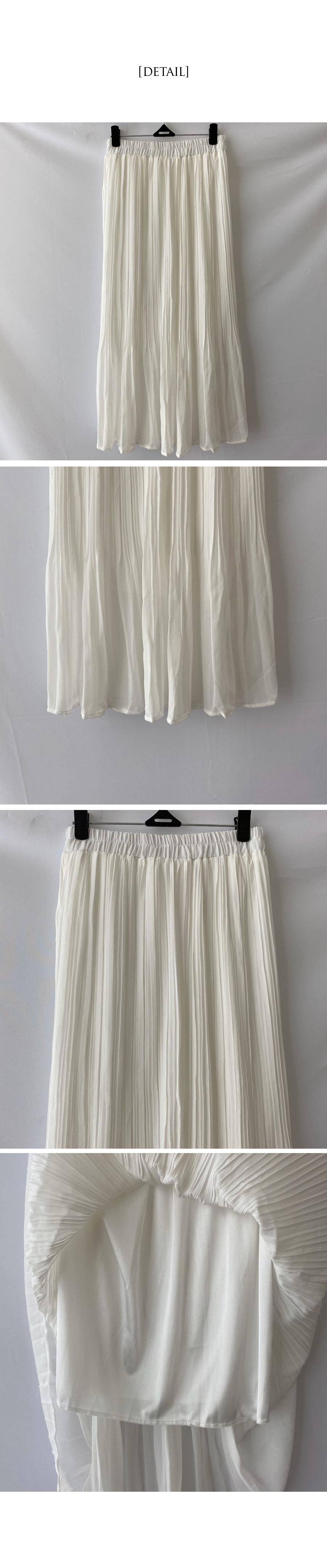 Sandal chiffon pleated skirt