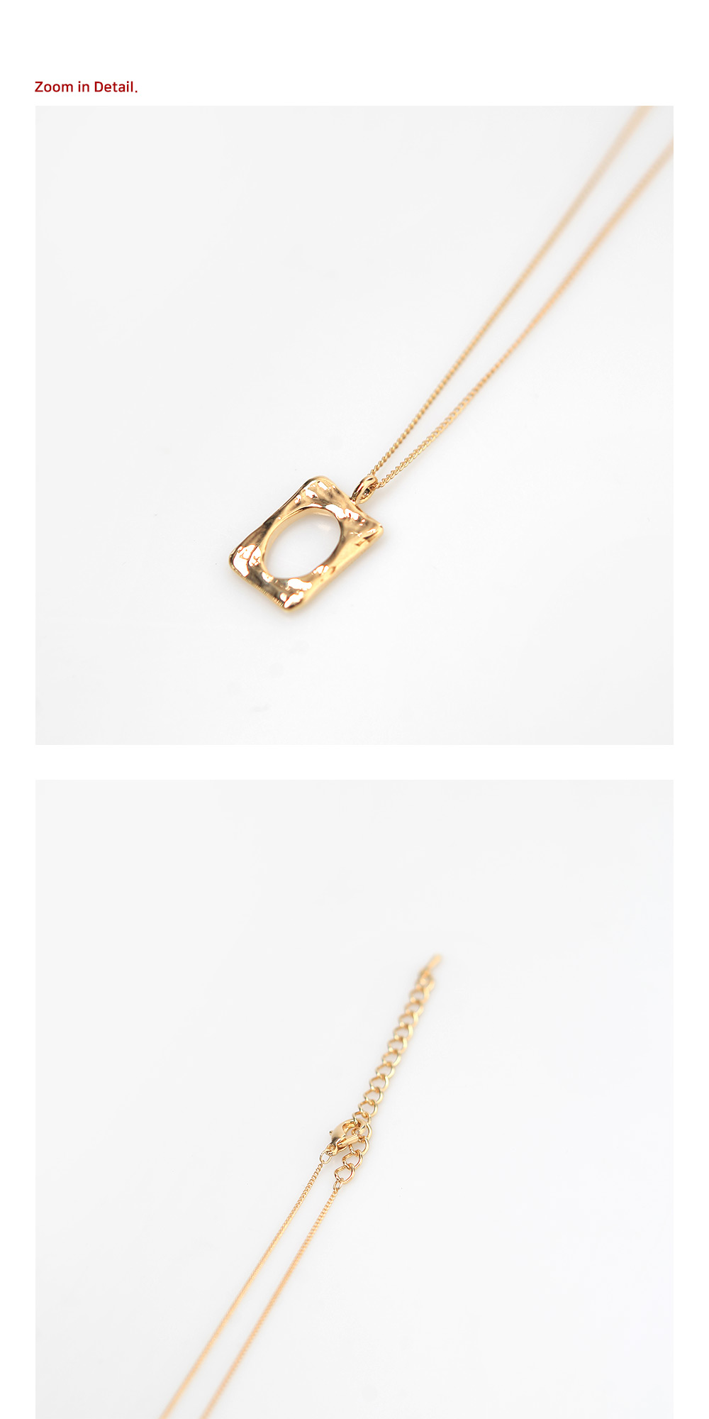 Flynn Square Necklace