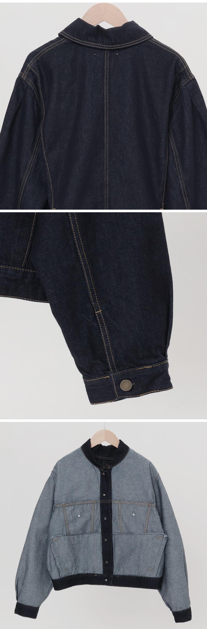 Indigo Blue Overfit Denim Jacket