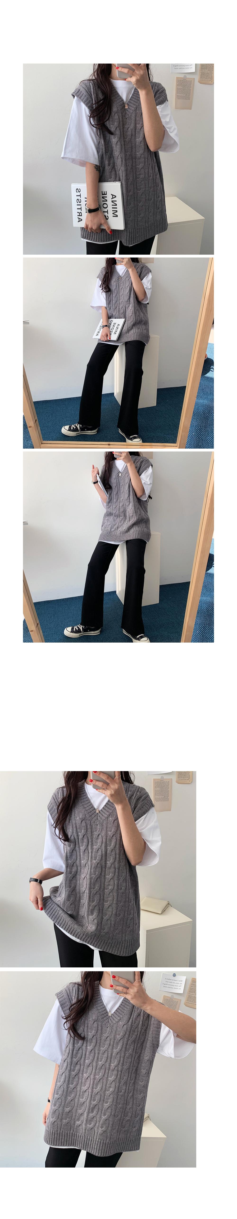 Pastel Twisted V Knitwear Vest