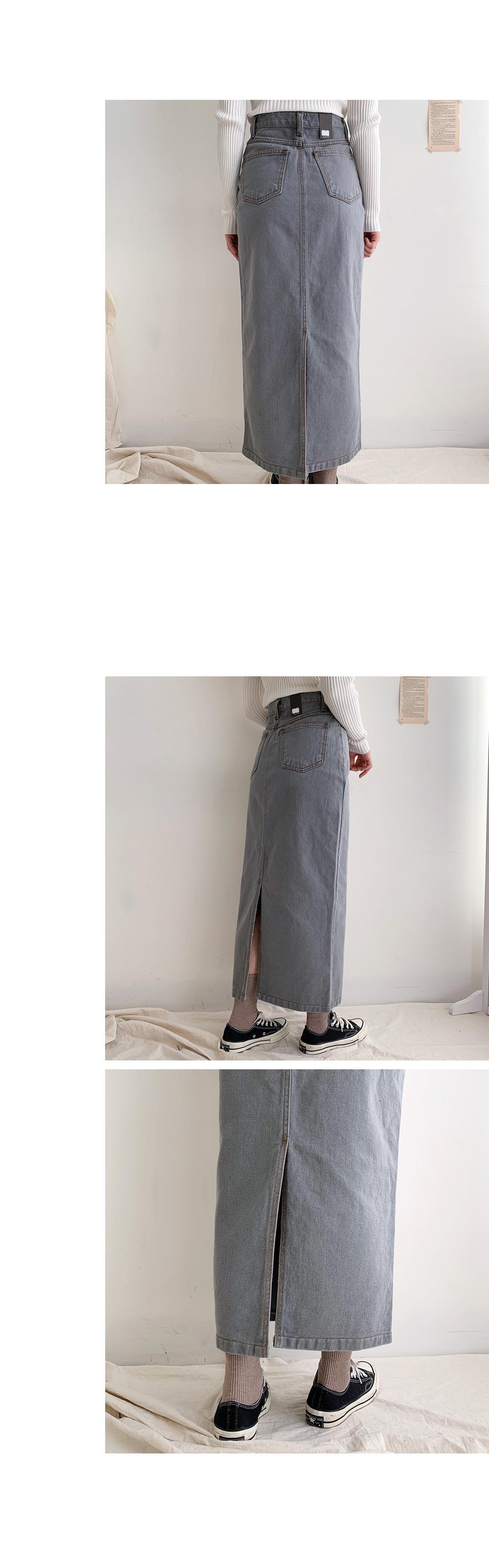 Codin Date Denim Long Skirt
