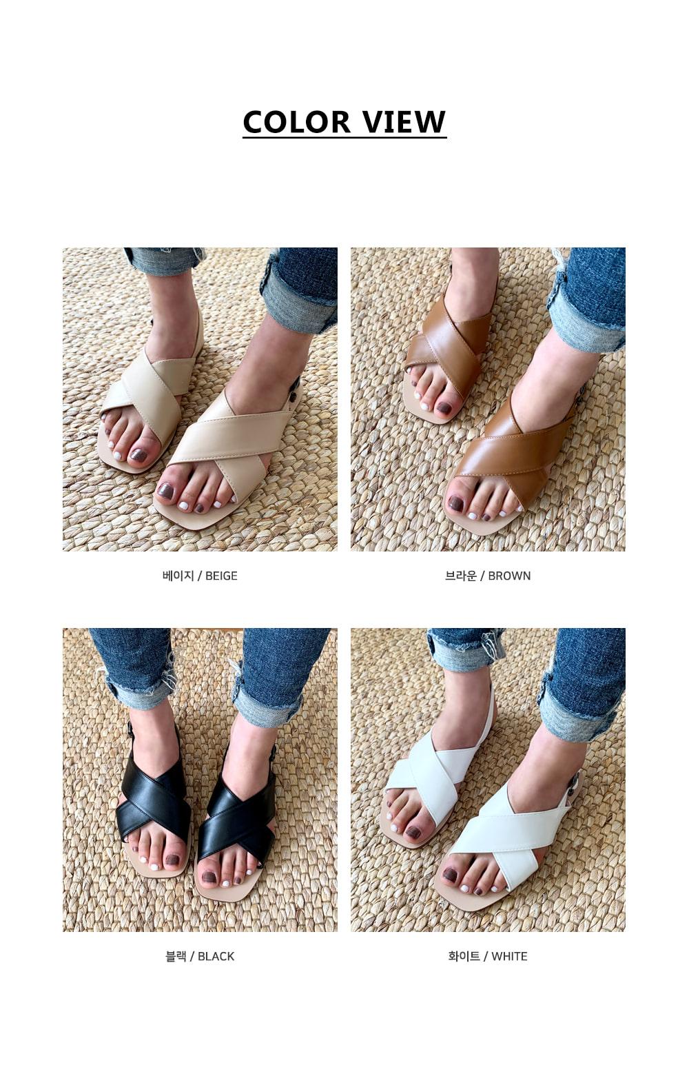 X strap buckle sandals S#YW304