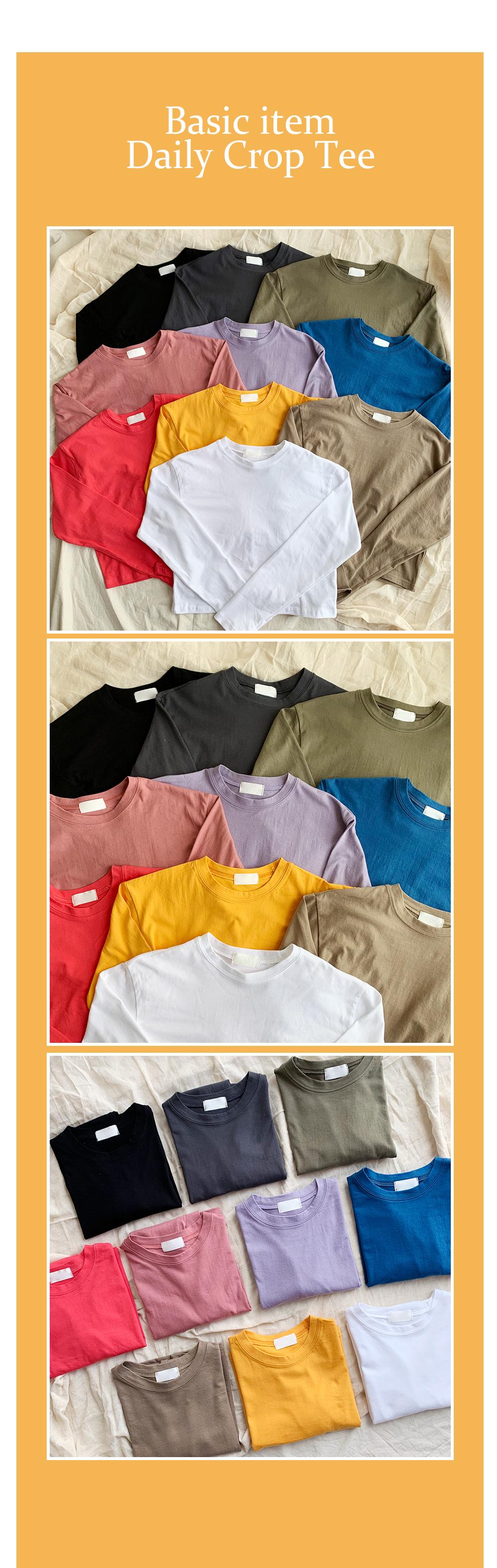 Bibig Color Long Sleeve Tee(10color)