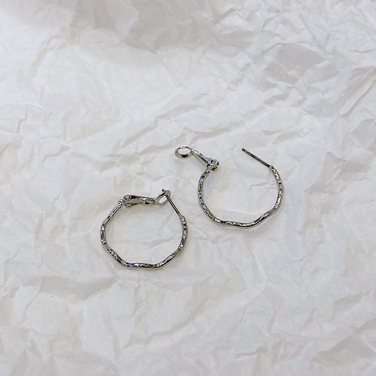 No Awake Simple Nickel Needle Earrings