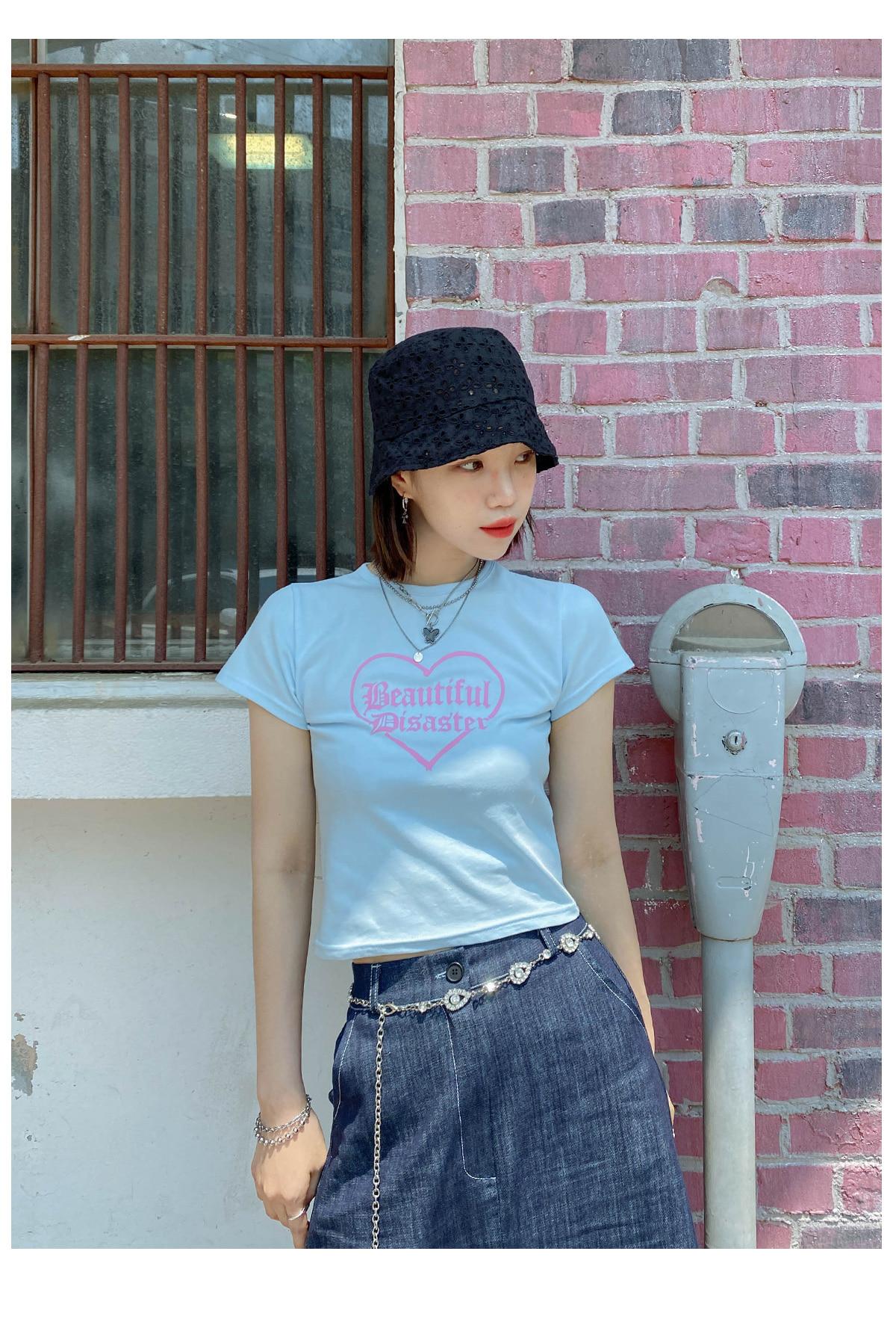 Crop netty t-shirt