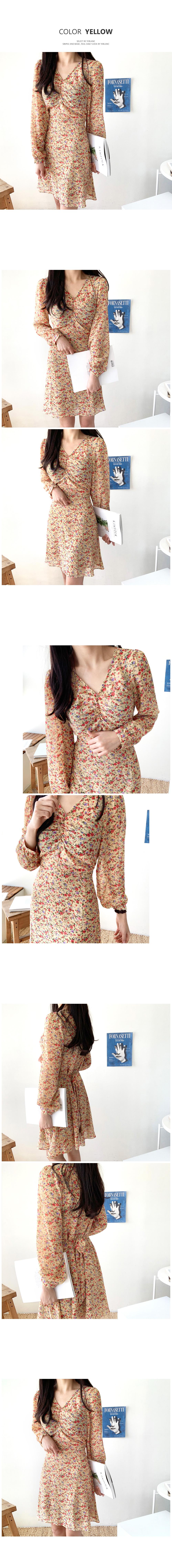 Fling shirring flower dress T#YW573