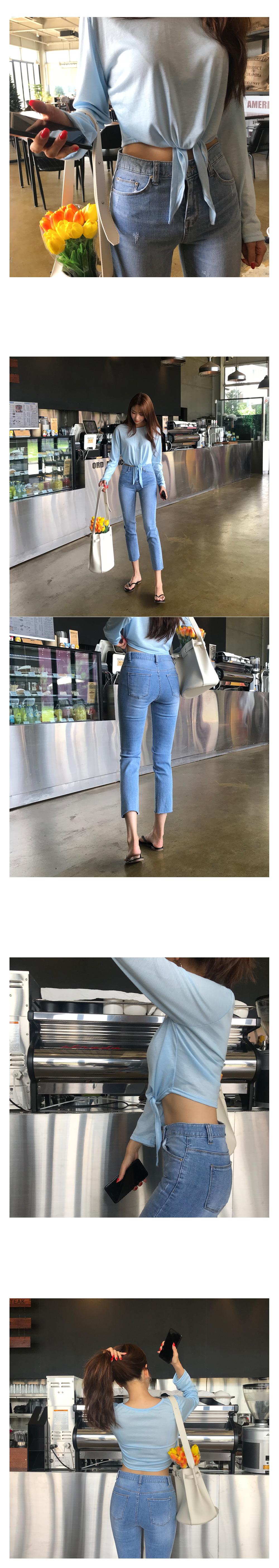 Momsen straight denim pants