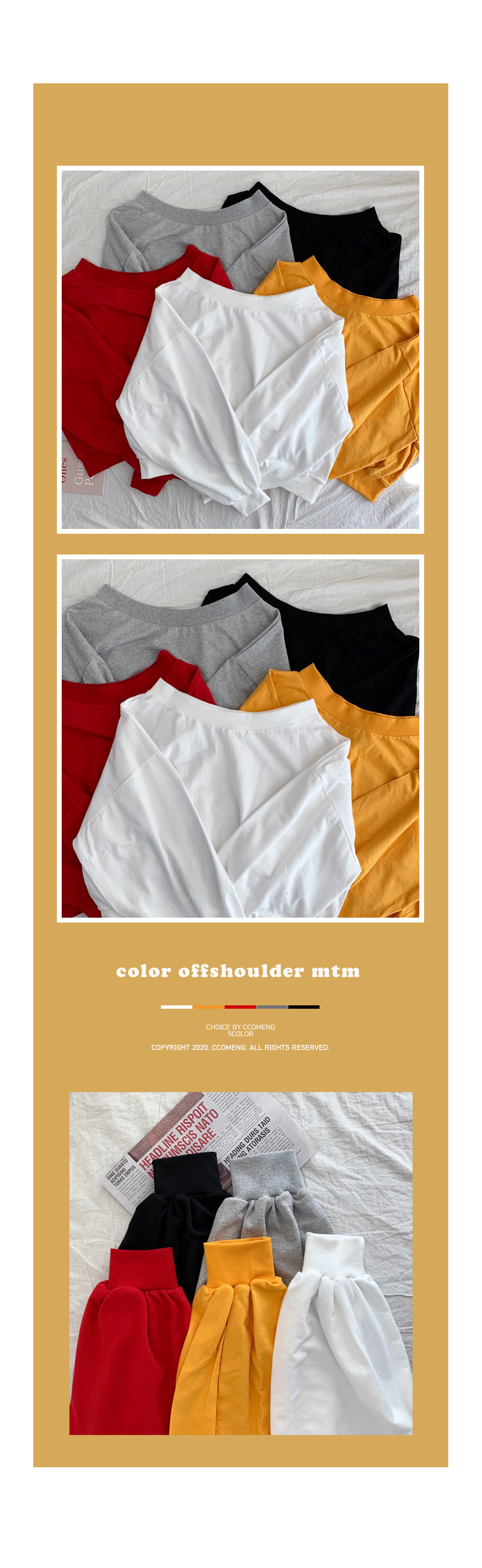 Muji Off Shoulder Sweatshirt