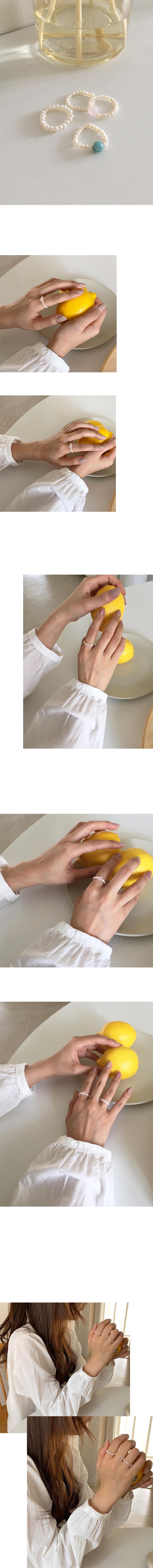 珍珠串戒指