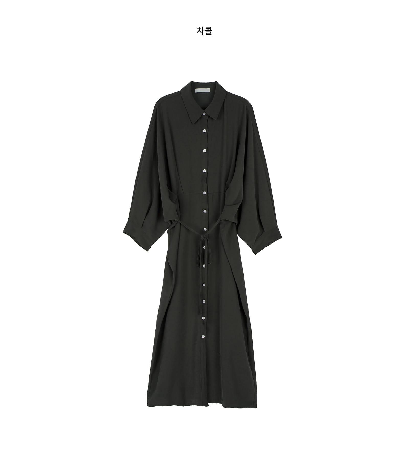 Shadow pintuck shirt maxi dress