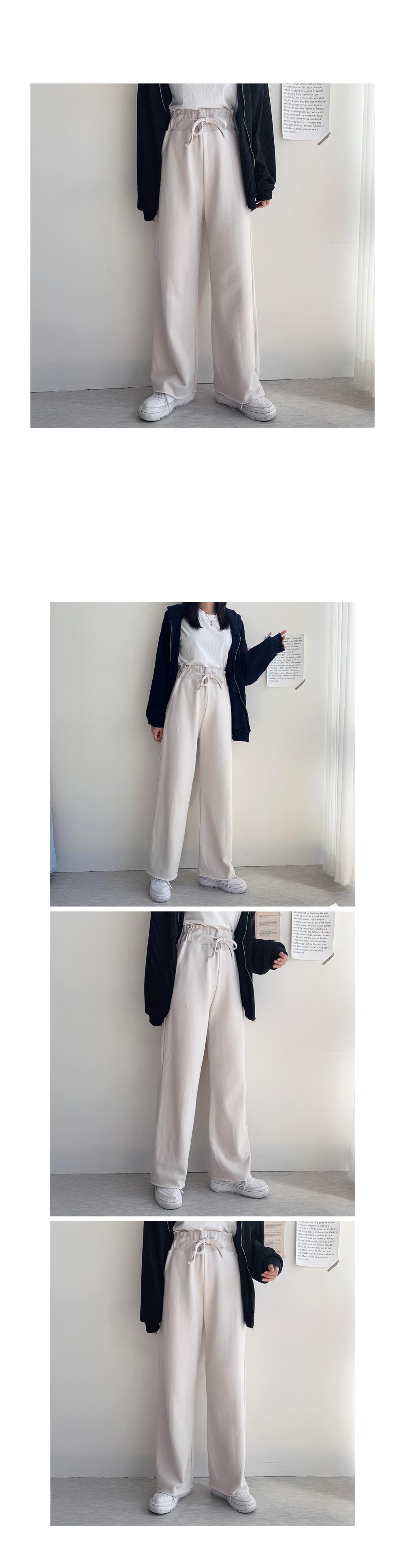 High-wide banding pants