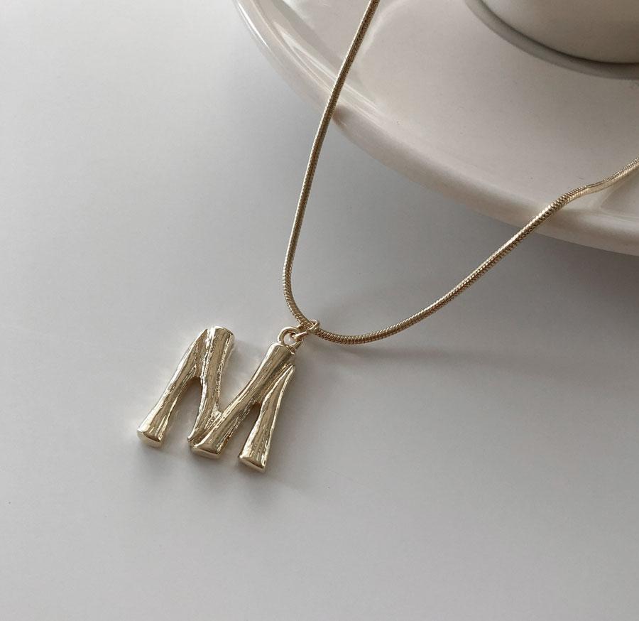 Alphabet initials layered necklace