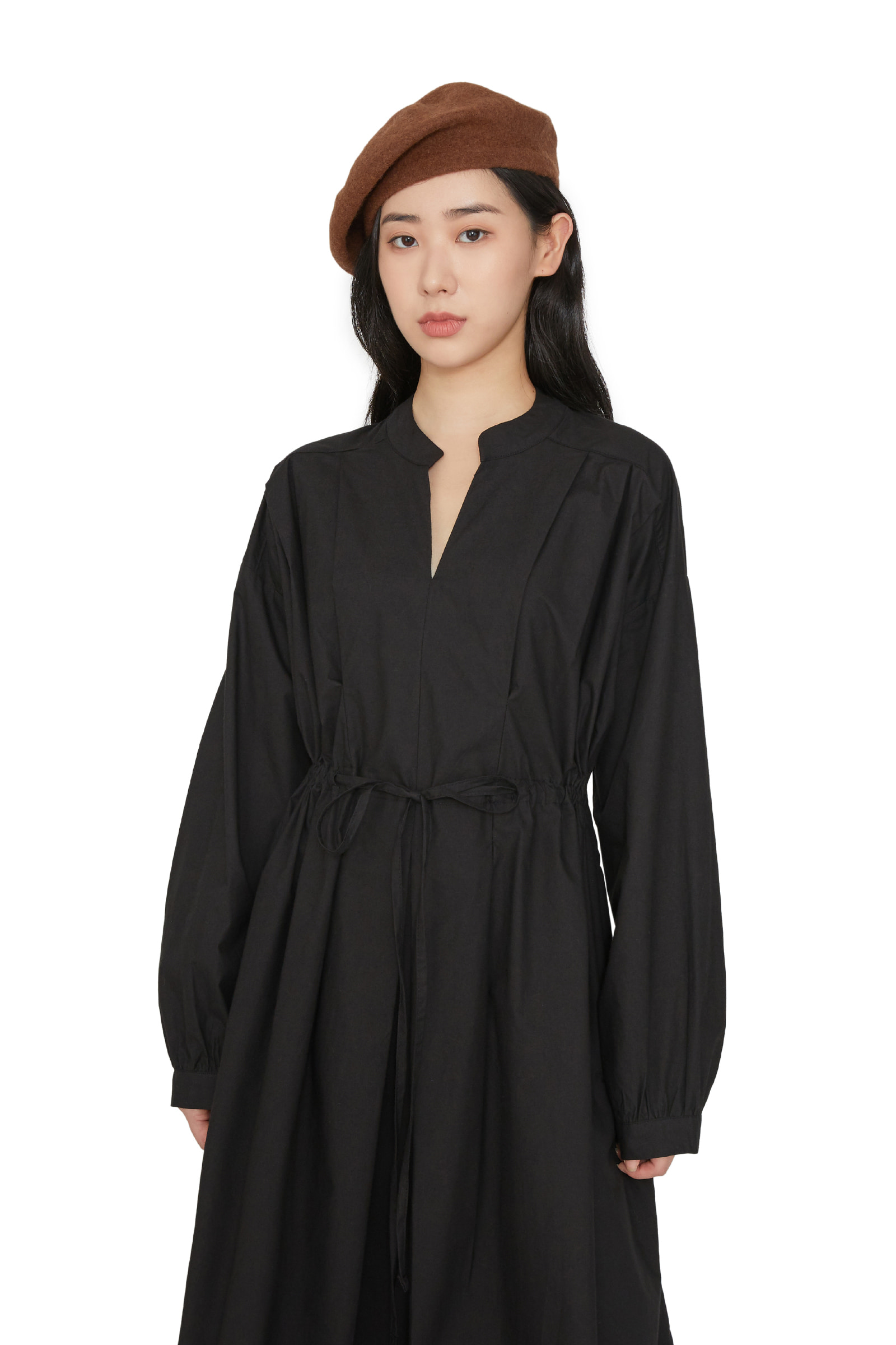 Berry string shift maxi dress
