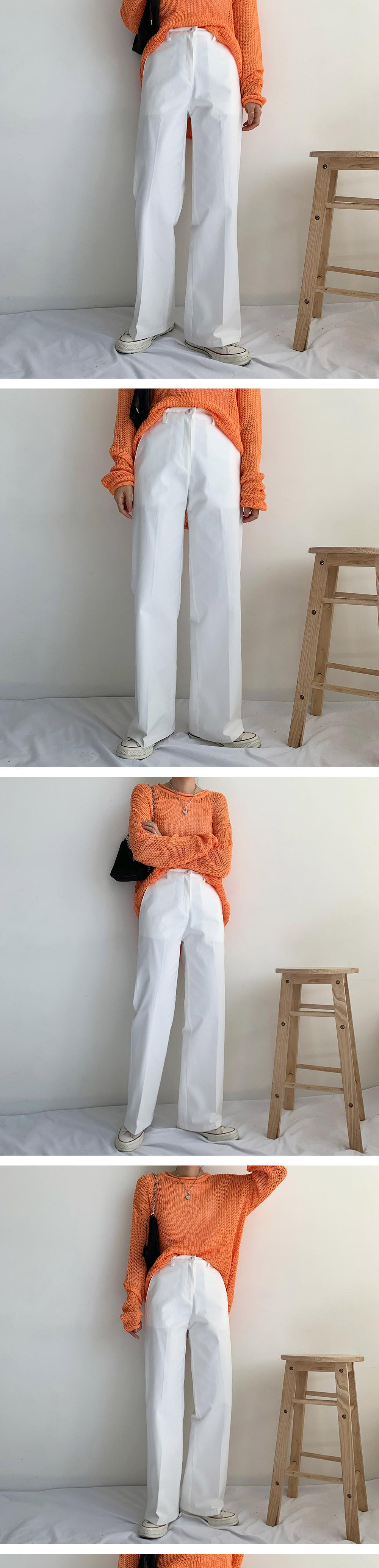 Pelcotton slim wide pants