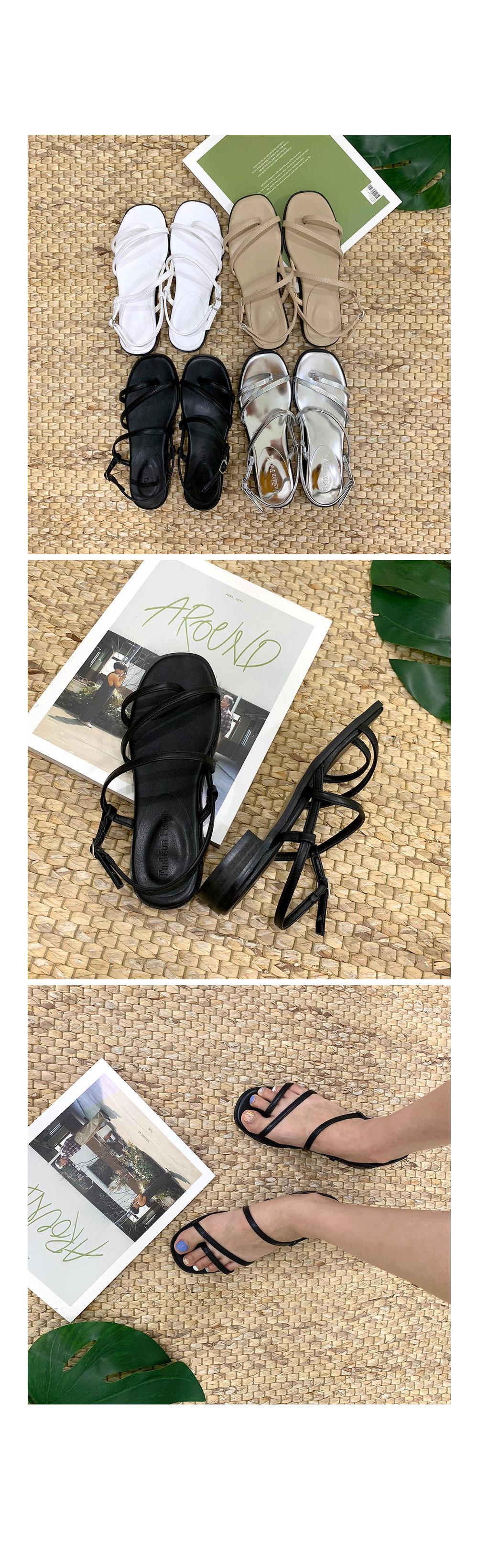 Summer diagonal sandals S#YW302