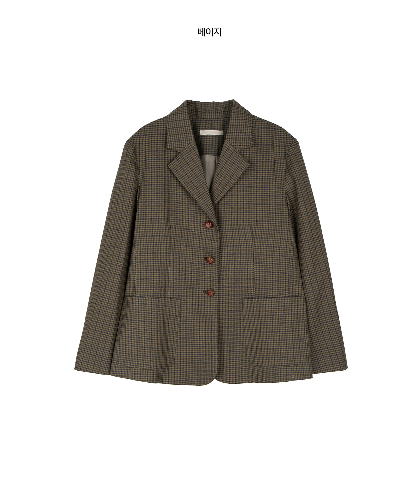 Kate check single jacket