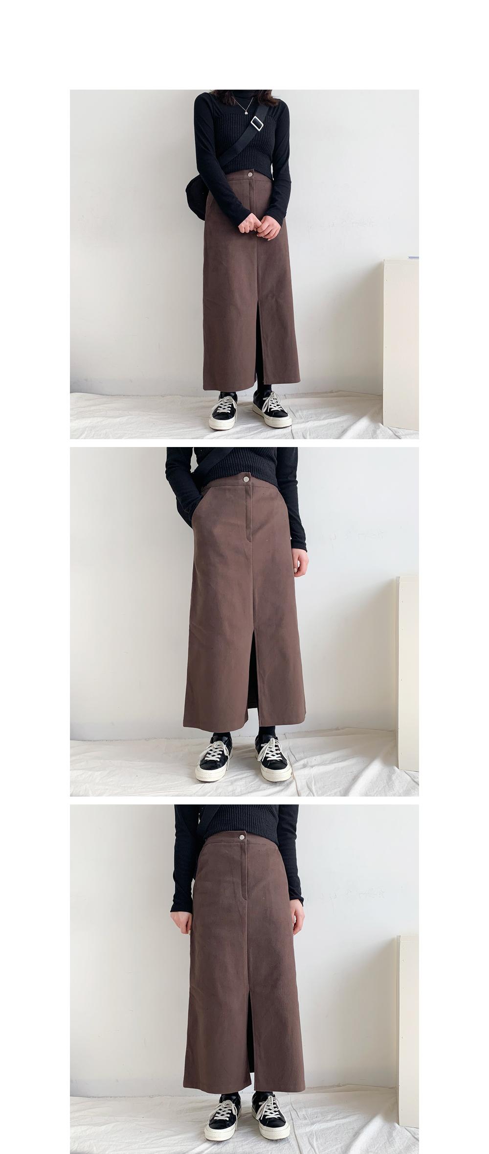 Pencil split long skirt (3color)