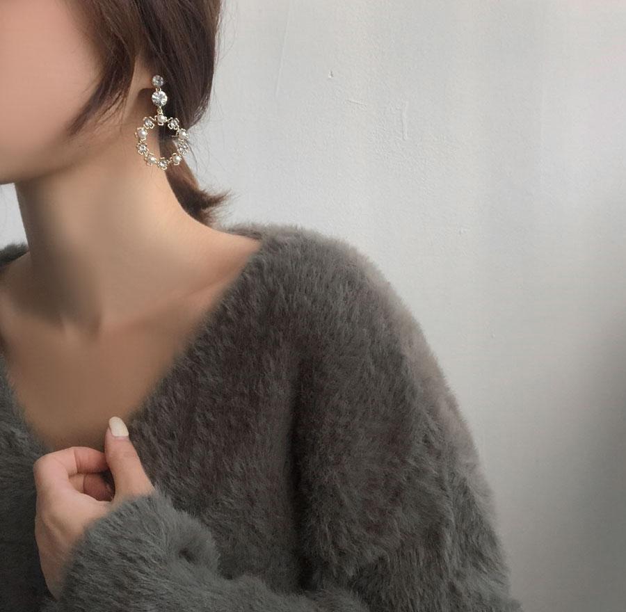 Merimi Cubic Pearl Drop Earrings