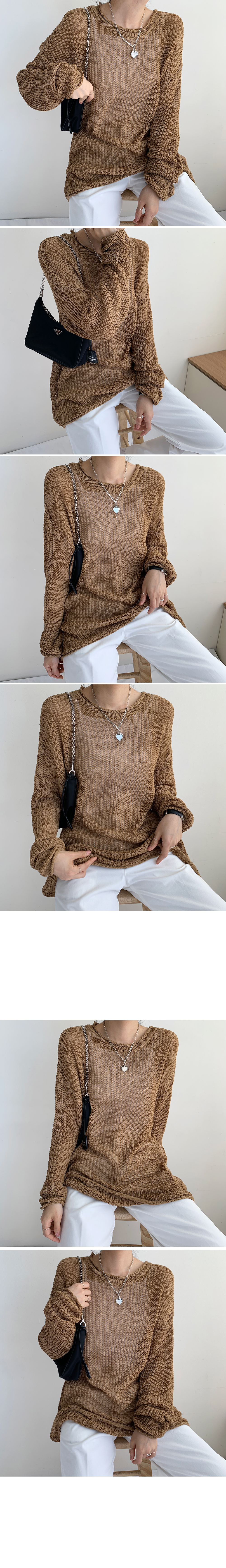 See-through doll box knit