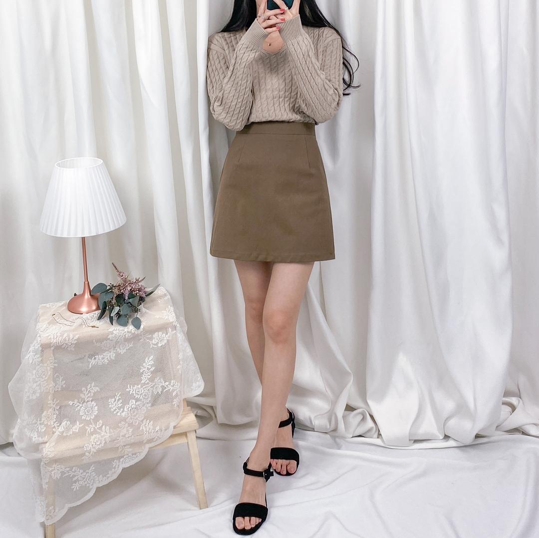簡約素色短裙