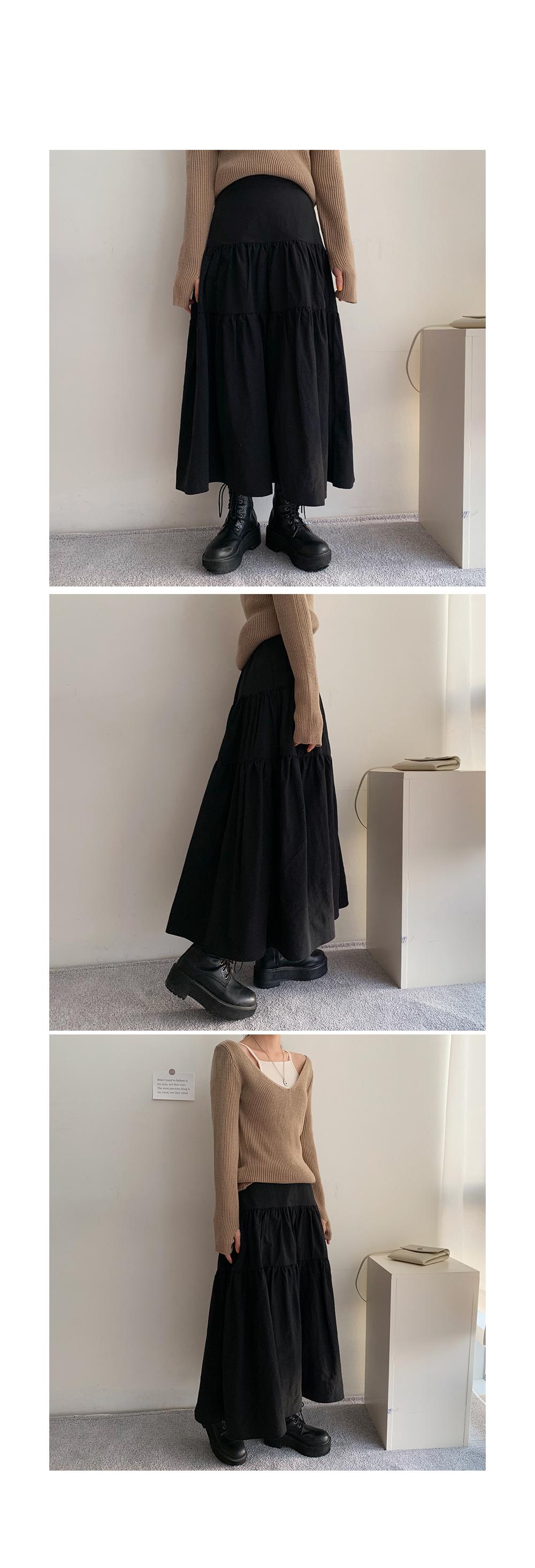 New Isle Shirring Long Skirt