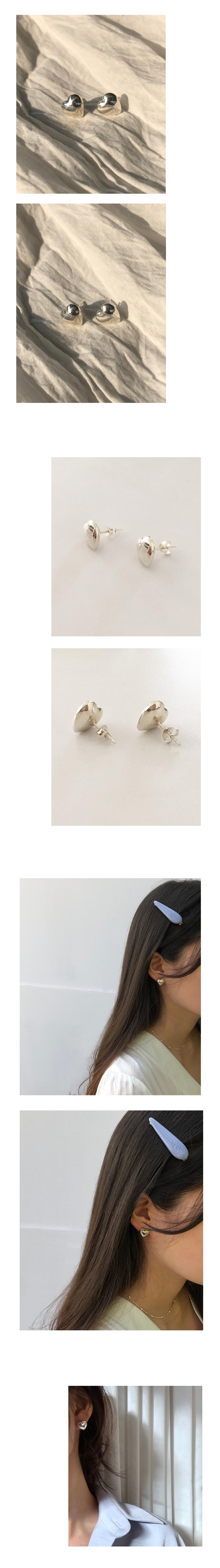 volume heart earring