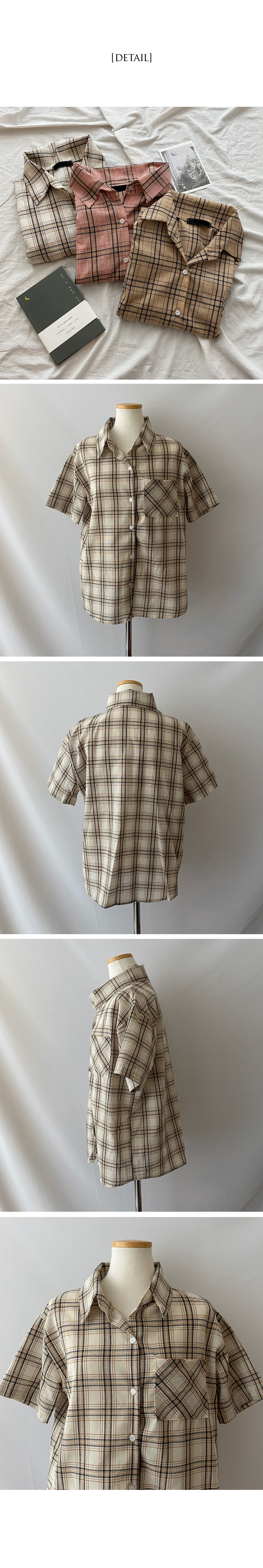Ant linen check box shirt