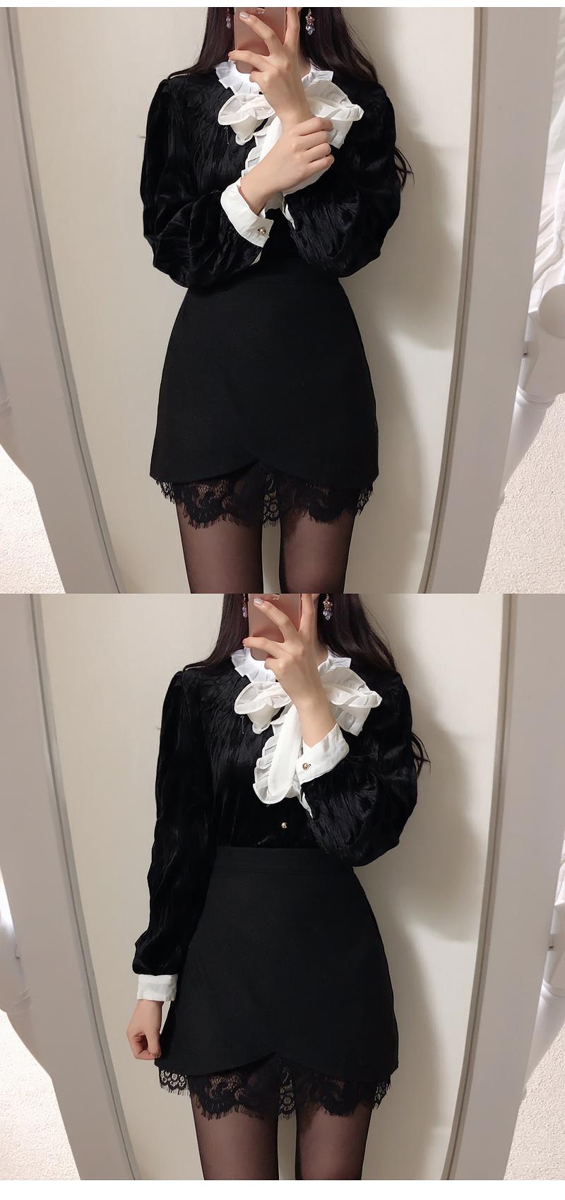 Self-made❤️ Mood lace minisk