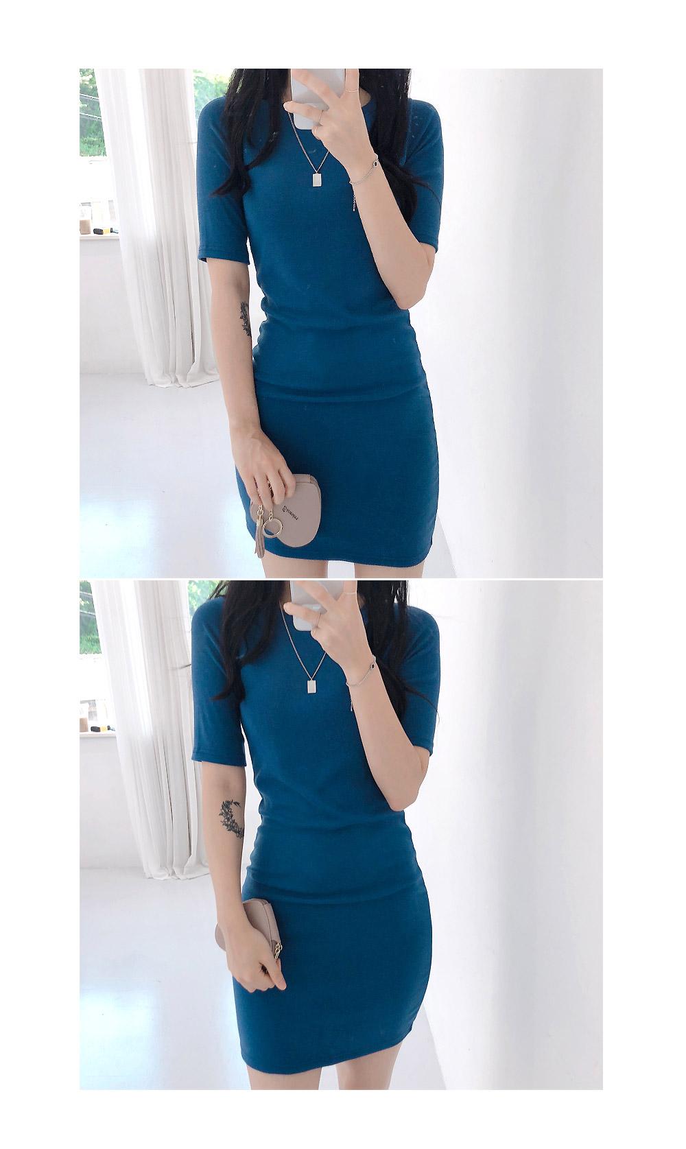 쫀쫀Slim Mini Dress