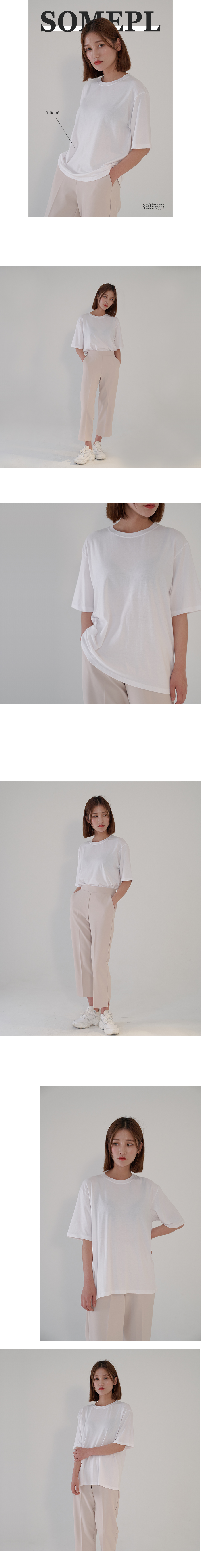 Special plan) 쫀쫀 Daily round short-sleeved T-shirt
