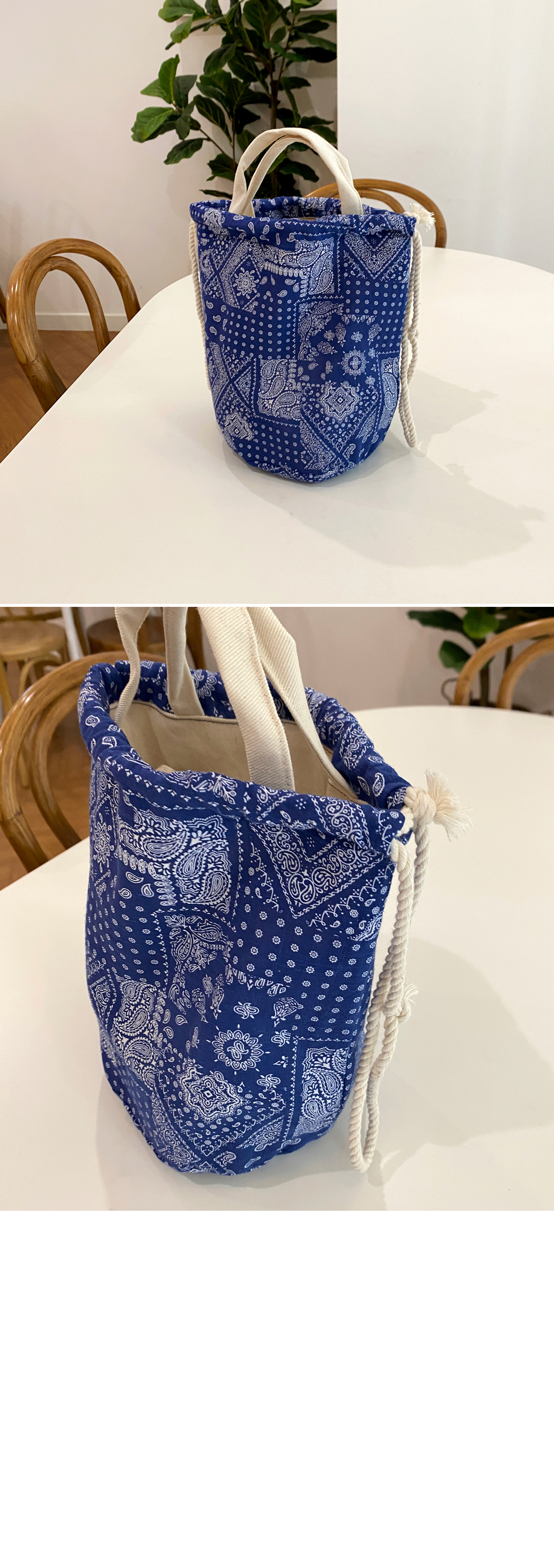 Paisley double sided bags