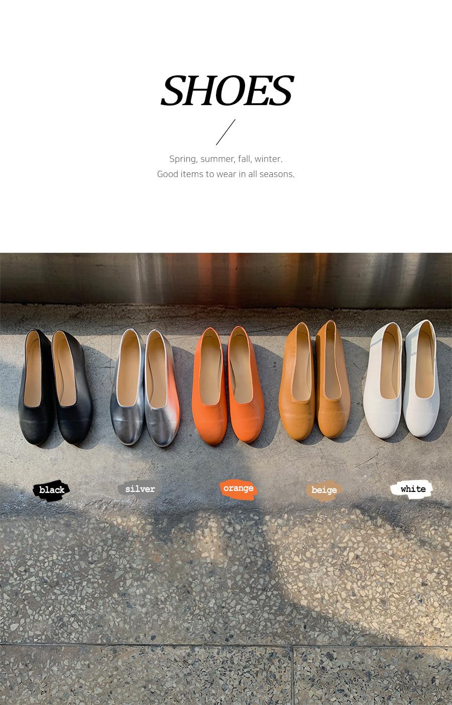 Egg flat shoes