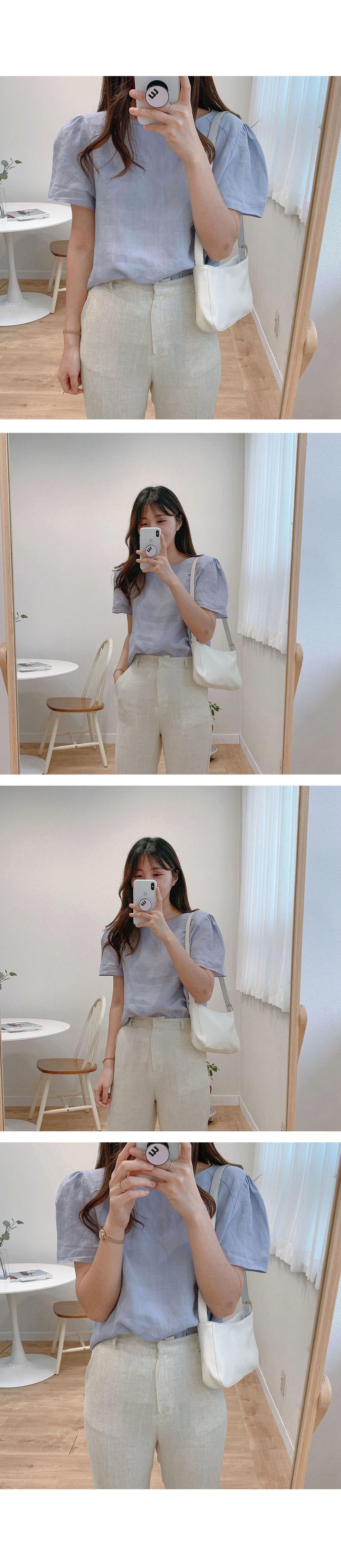 Minu puff blouse-2color