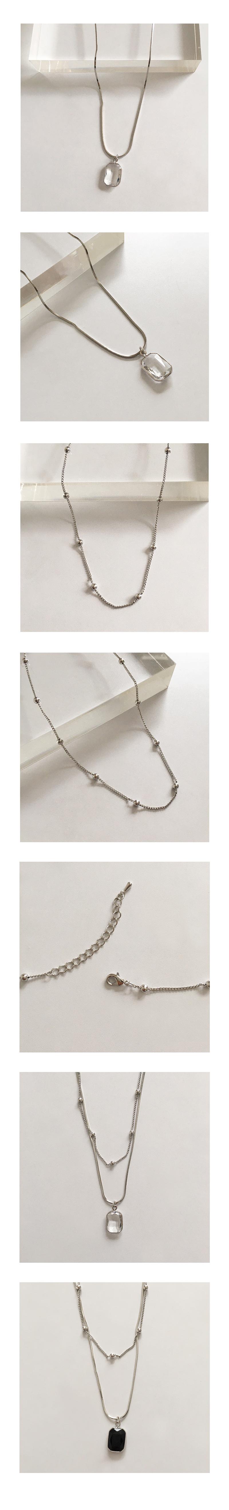 slit necklace set