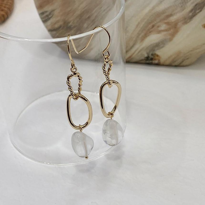 Noi Crystal Drop Nickel Needle Earrings