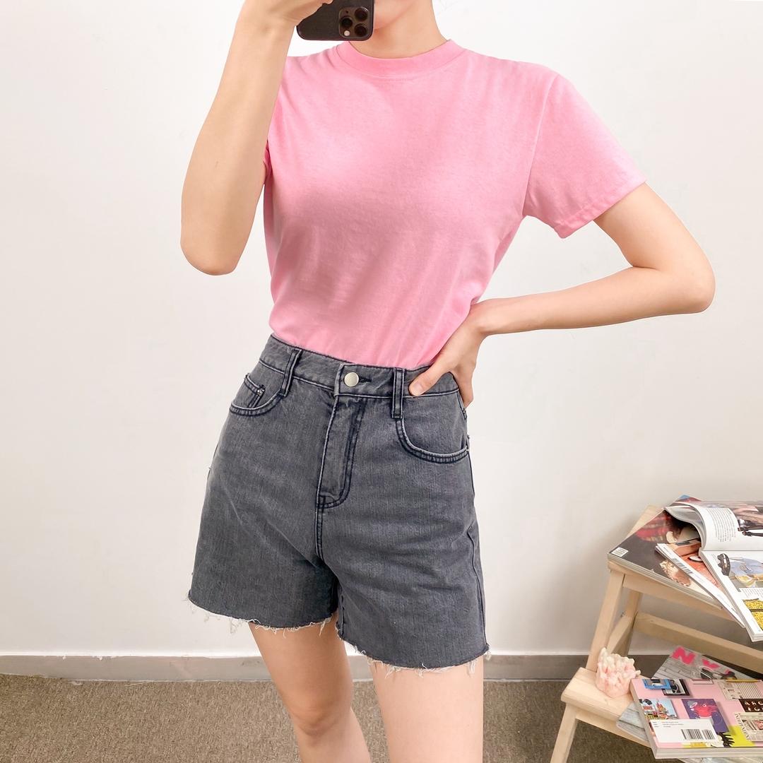 652 high waist denim pants