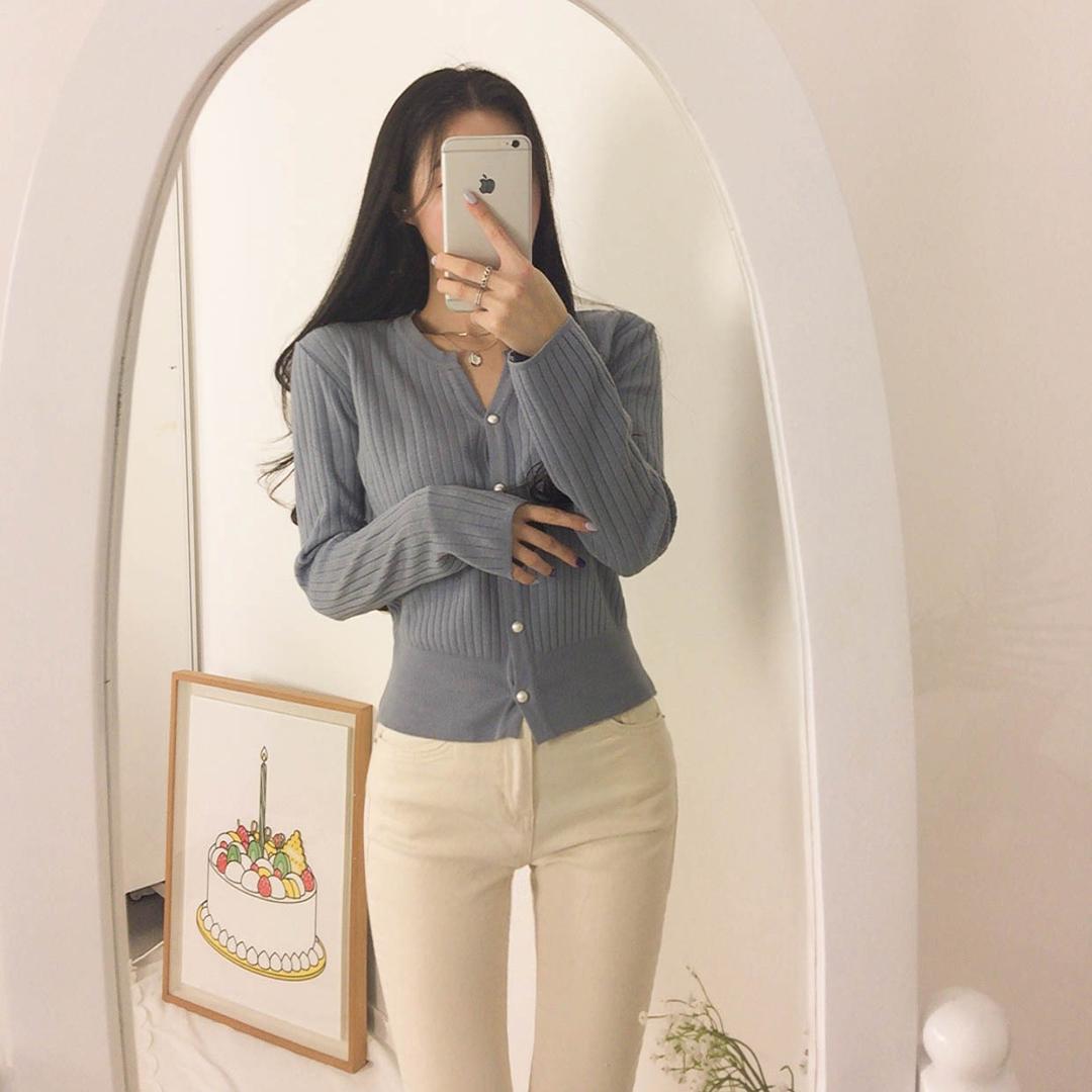 Preah Pearl Corrugated Cardigan