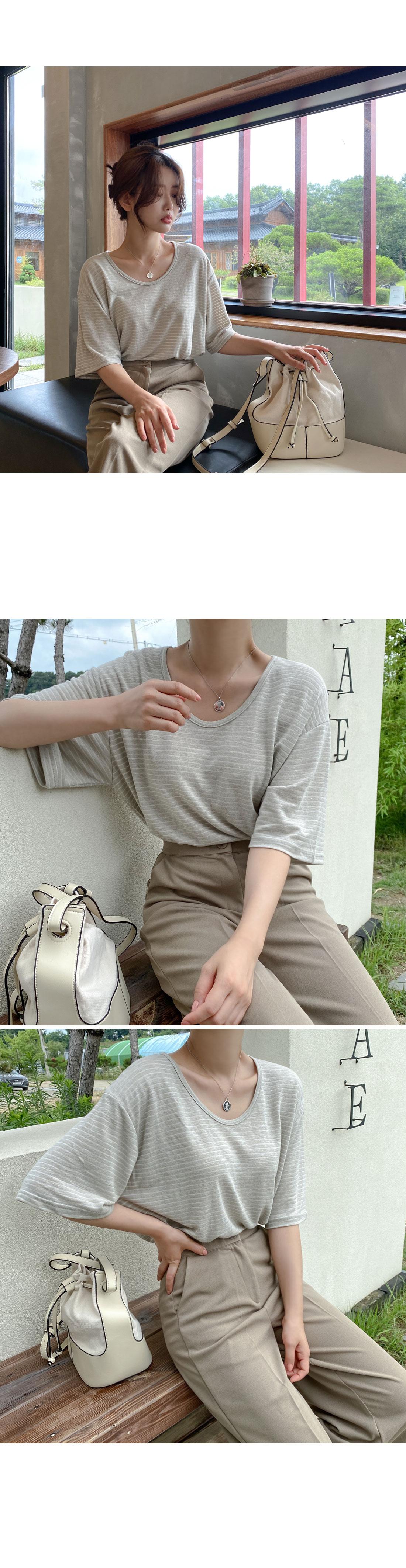 Fabric mix tote & shoulder bag