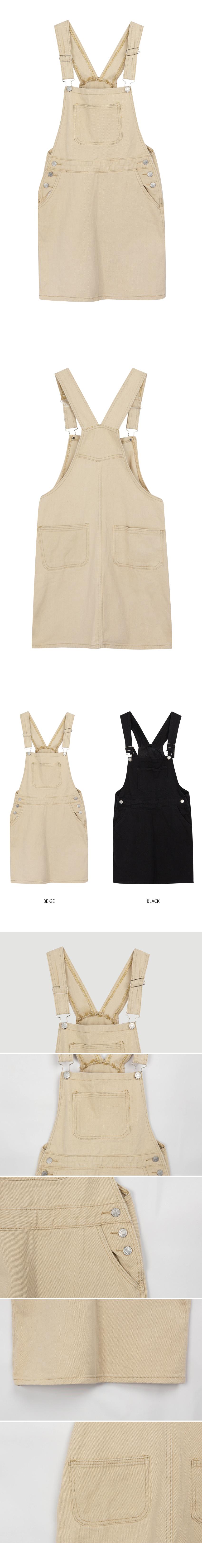 Culotte cotton suspenders dress