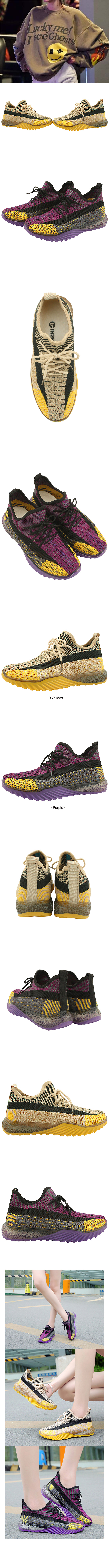 Knitted Sox Sporty Sneakers Purple