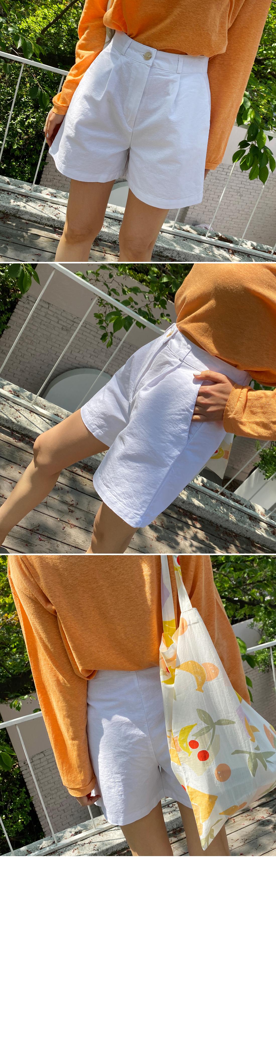 Linen pintuck shorts 3