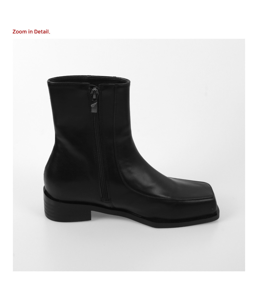 Modern square ankle boots