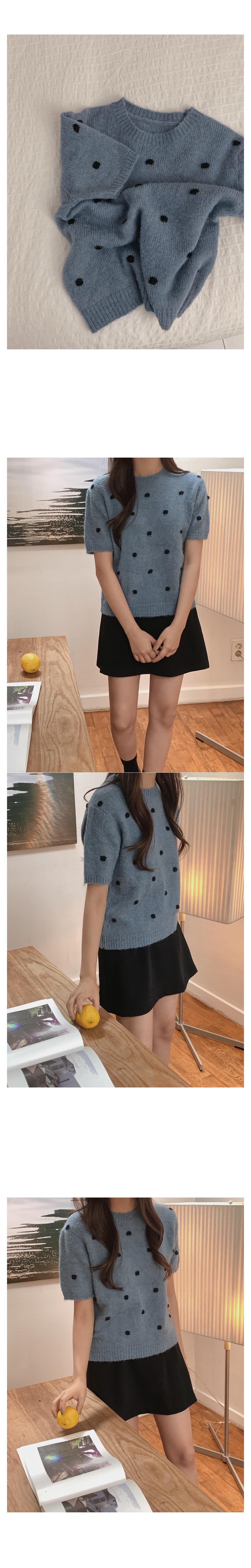 Stevie Dot Short Sleeve Knit