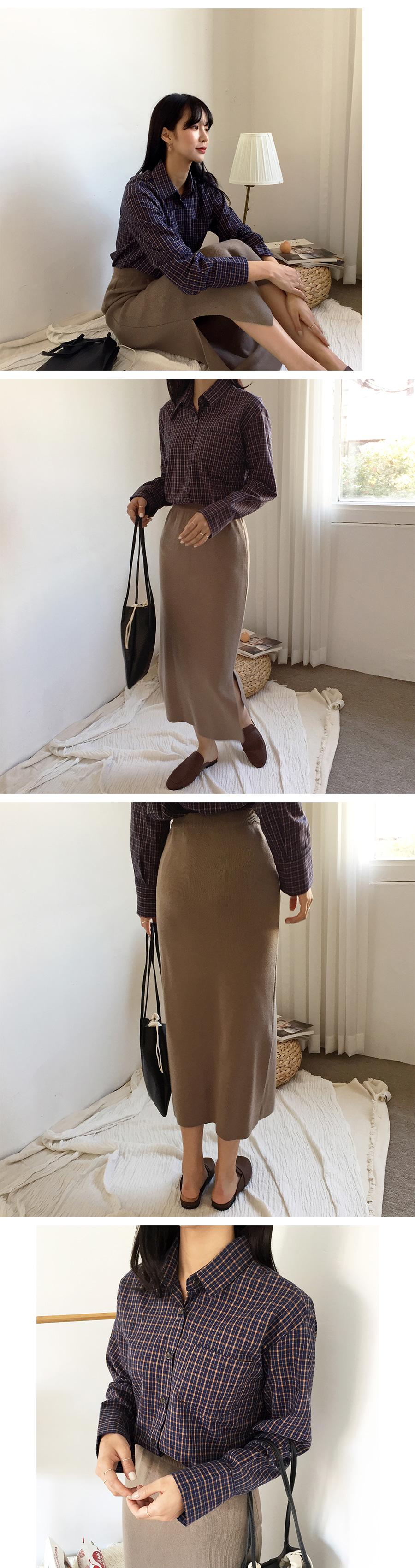 Toddy banding long skirt