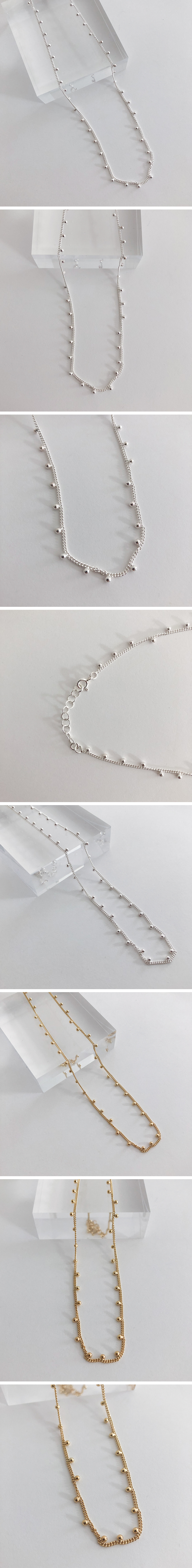 (silver925) sink necklace