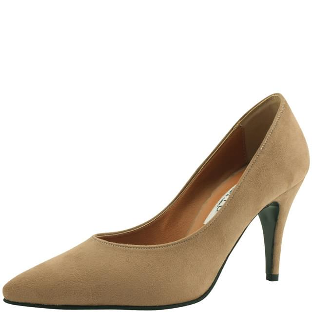 Simple Suede Stiletto Heel 9cm Beige