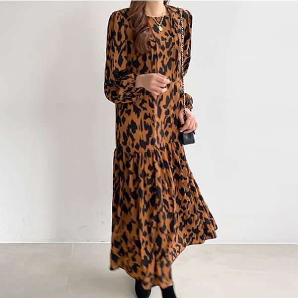 Leopard Long One Piece #37398