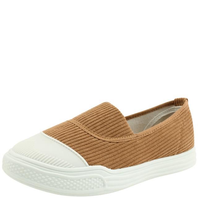 Golden Casual Slip-on Sneakers Brown