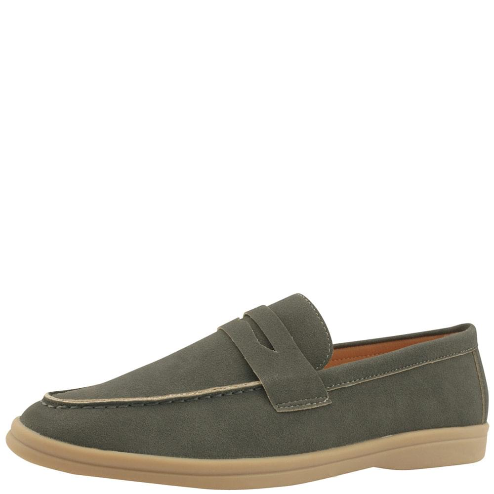 Suede Casual Loafers Gray