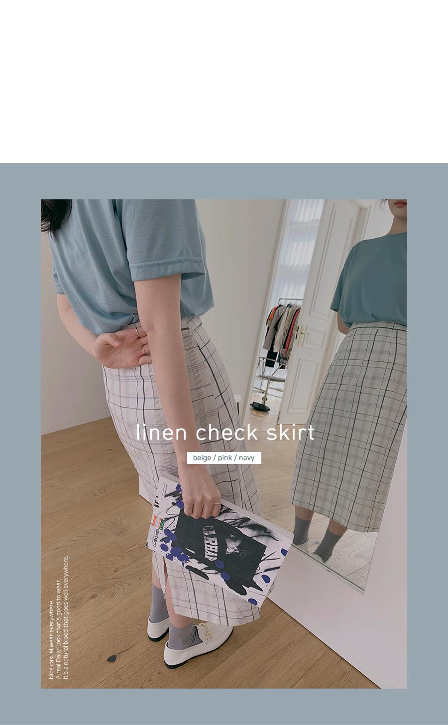 Marble check skirt